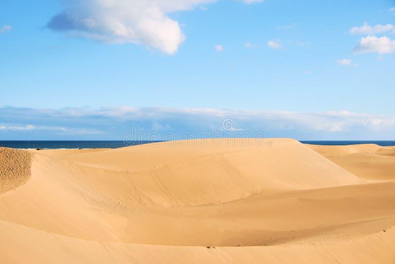 Песчанные дюны Maspalomas в Гран-Канарии, Испании стоковое изображение rf