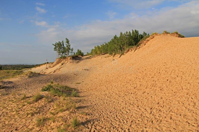 Песчанные дюны вдоль Lake Michigan, США стоковая фотография