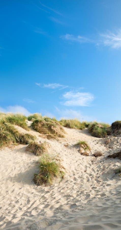 Песчанные дюны и голубое небо, пески погиба стоковая фотография rf