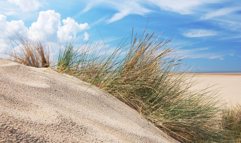 Песчанные дюны и небо стоковые изображения