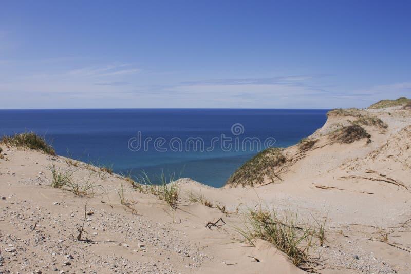 Песчанные дюны на южном острове Manitou стоковые изображения rf