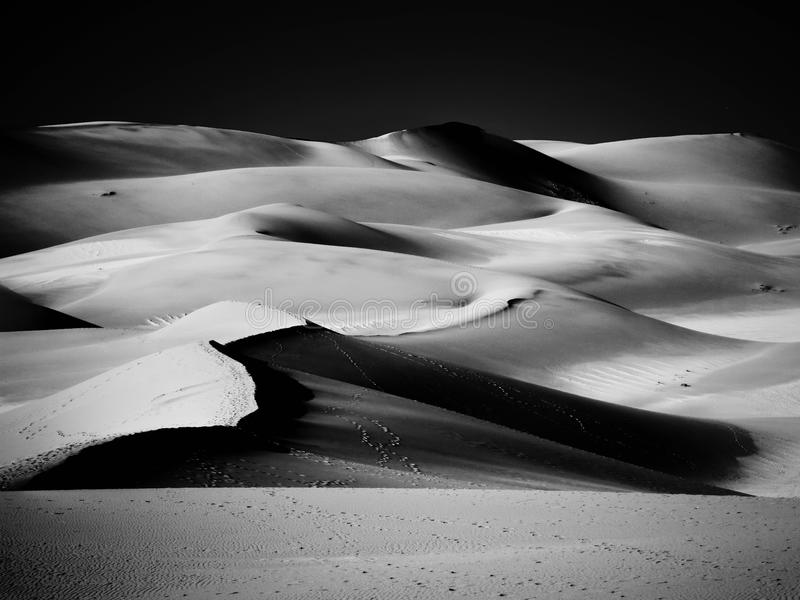 Песчанные дюны, черно-белая версия стоковые фотографии rf