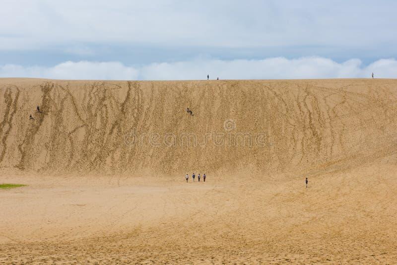 Песчанные дюны Tottori в Tottori, Японии стоковое фото rf