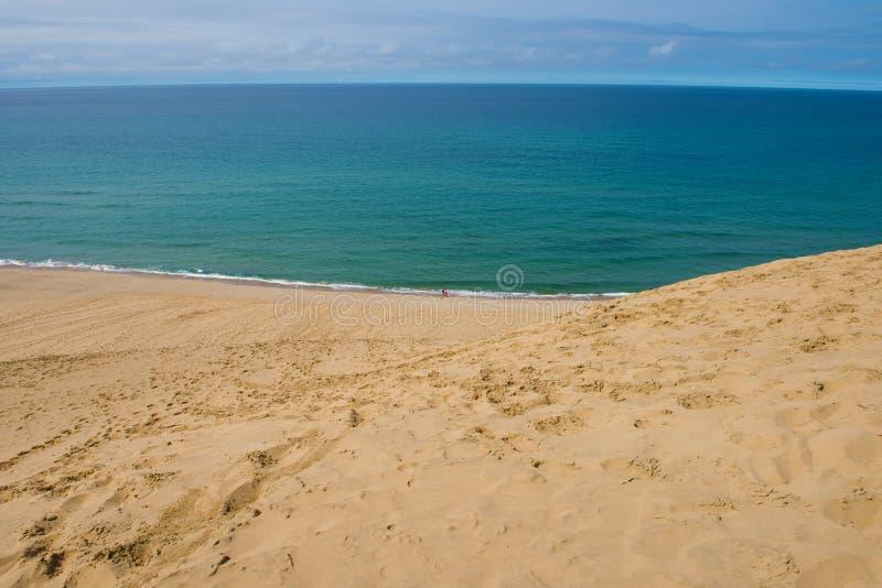 Песчанные дюны Tottori в Tottori, Японии стоковое изображение rf