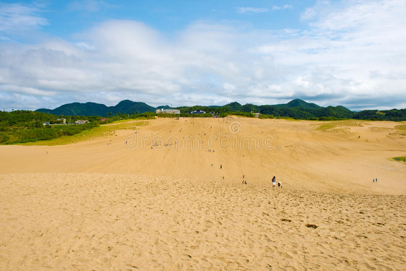 Песчанные дюны Tottori в Tottori, Японии стоковые фотографии rf