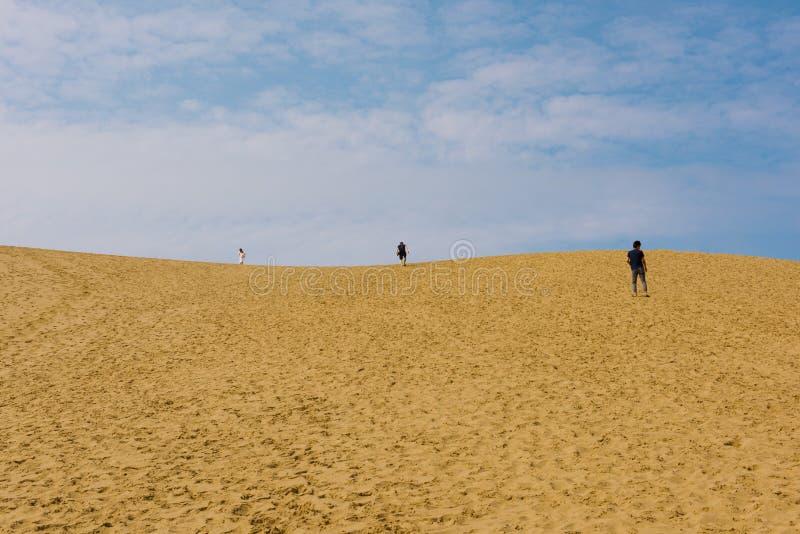 Песчанные дюны Tottori в Tottori, Японии стоковое фото