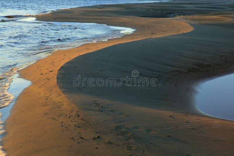 Песчаные пляжи стоковая фотография rf