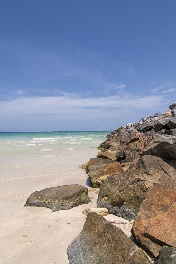 Песчаный пляж в южном Maimi, Флориде стоковое изображение