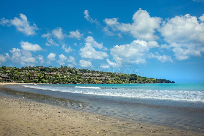Песчаный пляж в Jimbaran стоковая фотография
