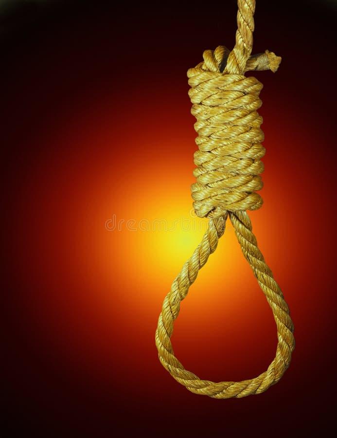 Петля Hangmans - высшая мера наказания стоковое фото