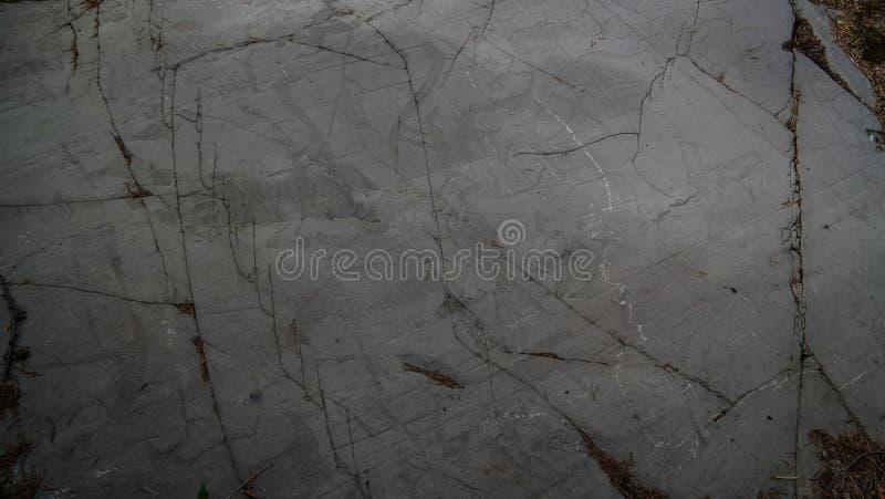Петроглифы культуры Komsa на банке seashore в Alta, finnmark, Норвегии стоковая фотография rf