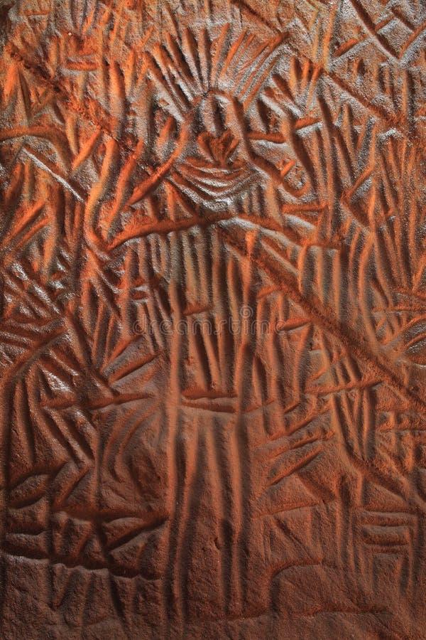 петроглиф подземелья edakkal стоковое изображение rf