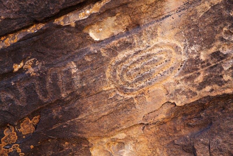 Петроглифы коренного американца стоковое фото rf
