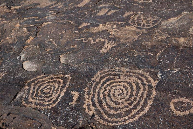Петроглифы Anasazi Риджа стоковая фотография rf