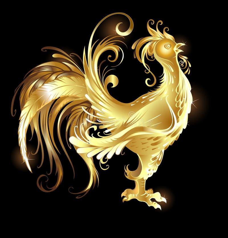 Петух золота иллюстрация штока