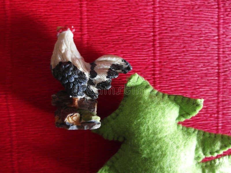 Петух и ель стоковое фото rf