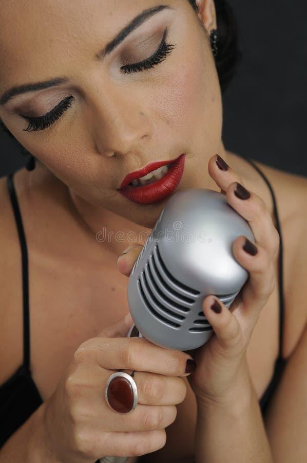 петь красотки ретро стоковая фотография