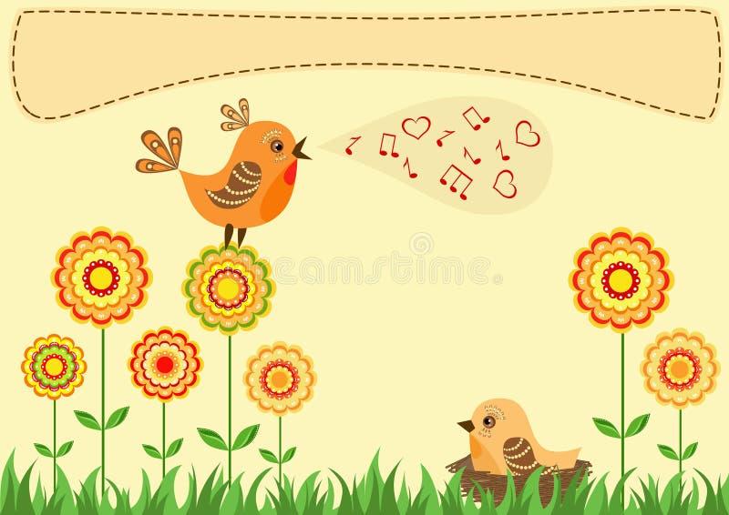 петь приветствия карточки птицы бесплатная иллюстрация