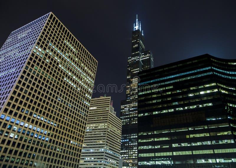 Петля Чикаго башни Willis стоковые изображения rf