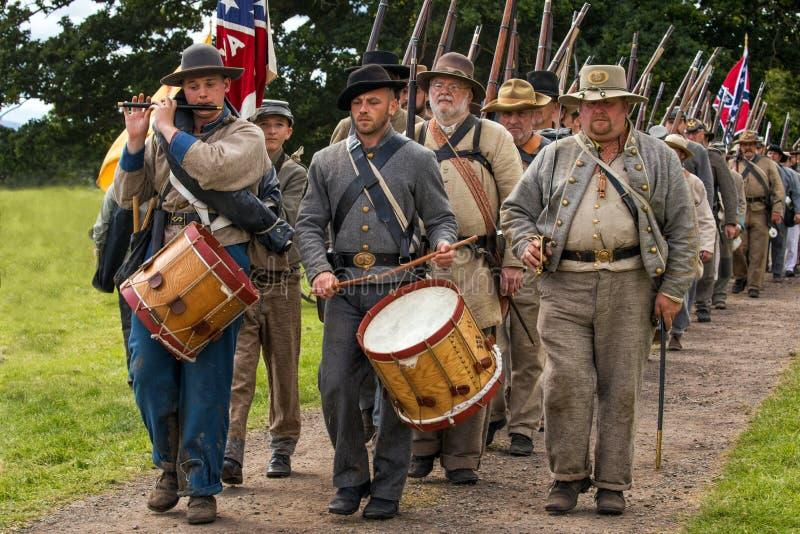 Пехота Confederate, Вустершир, Англия стоковое изображение rf