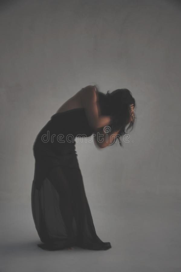 Печаль и депрессия женщины тени стоковые изображения rf