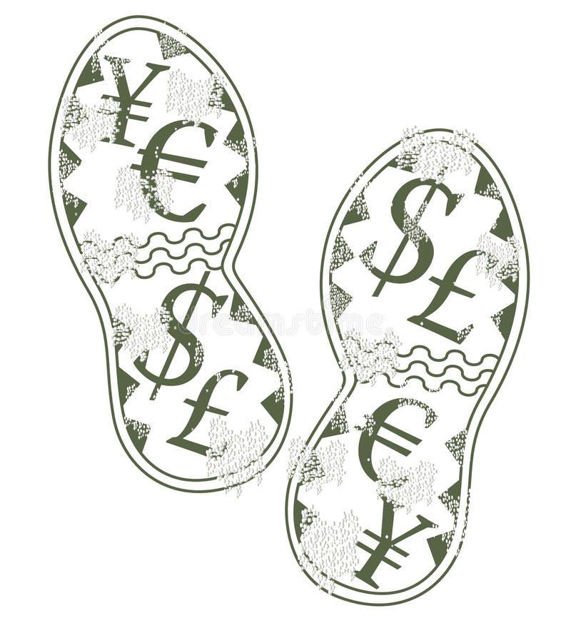 печатание валюты иллюстрация вектора