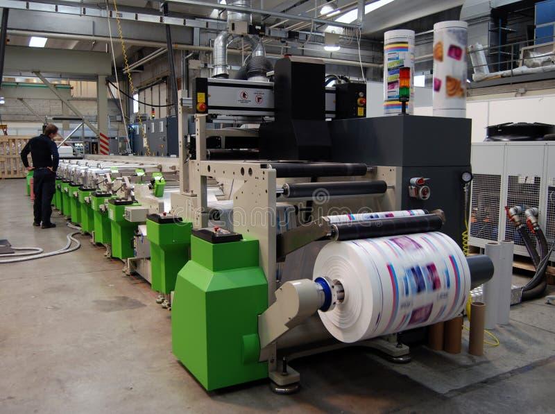печатание давления flexo uv стоковое фото rf