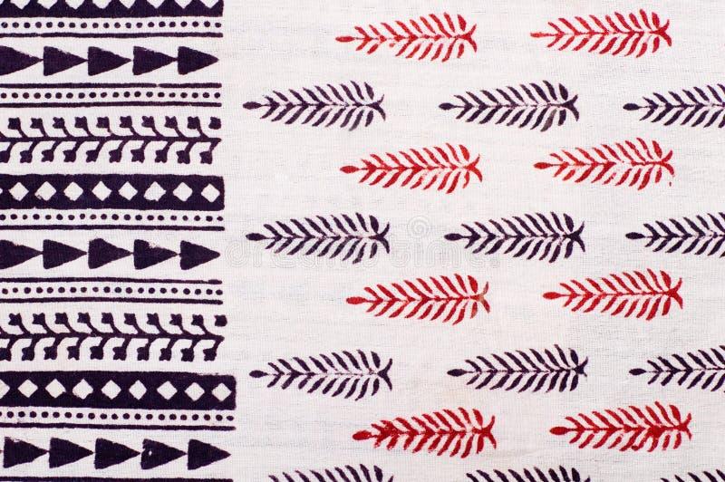 печатание Индии руки формы блока стоковое фото