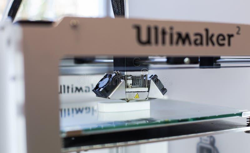 печатание 3d стоковое фото