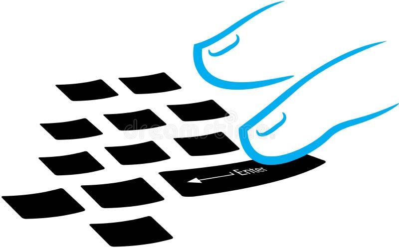 печатать на машинке логоса иллюстрация штока