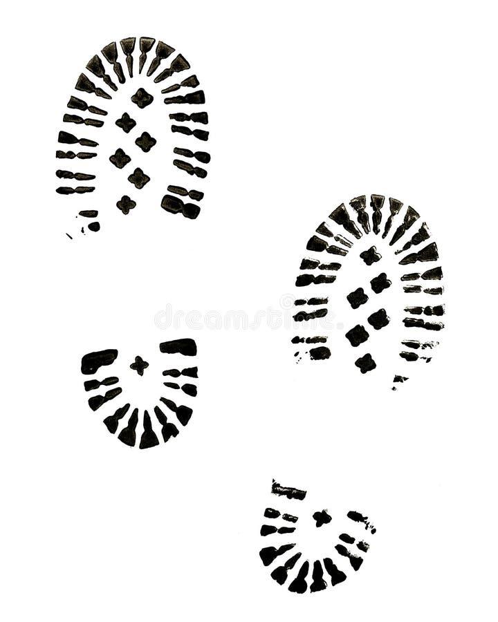 Печати ботинка стоковые фотографии rf
