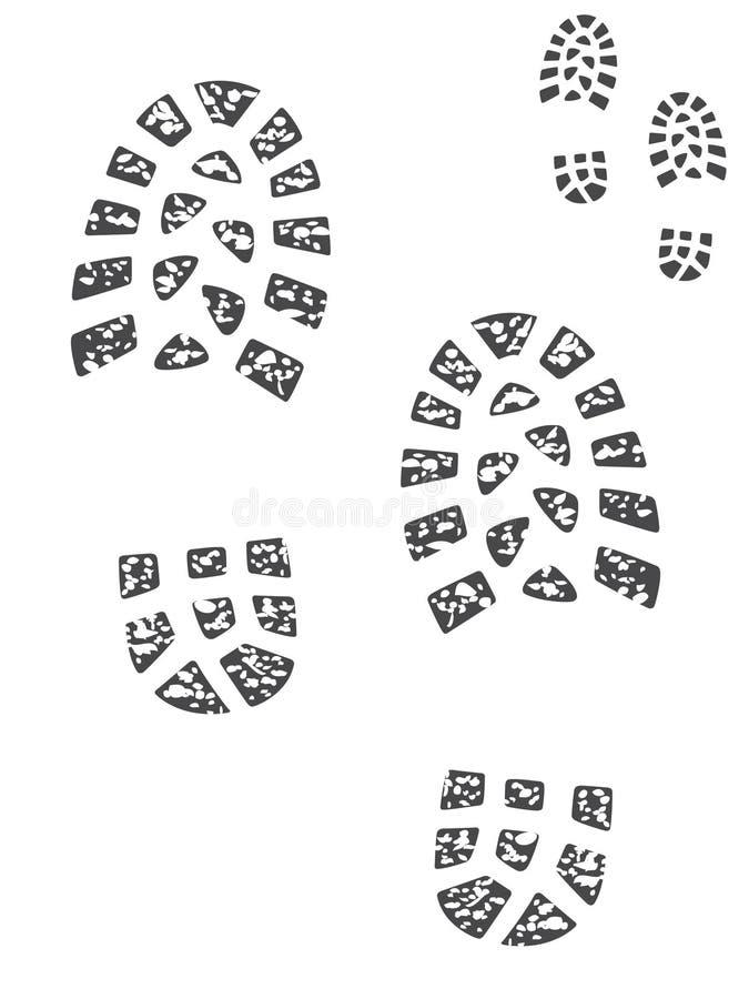 печати ботинка иллюстрация штока
