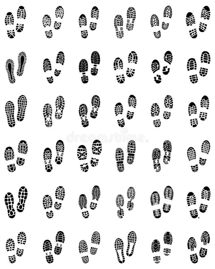Печати ботинок иллюстрация вектора