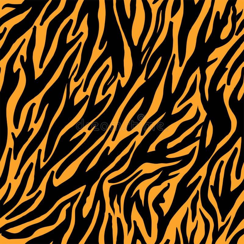 Печати кожи нашивок тигра вектора безшовные r иллюстрация штока