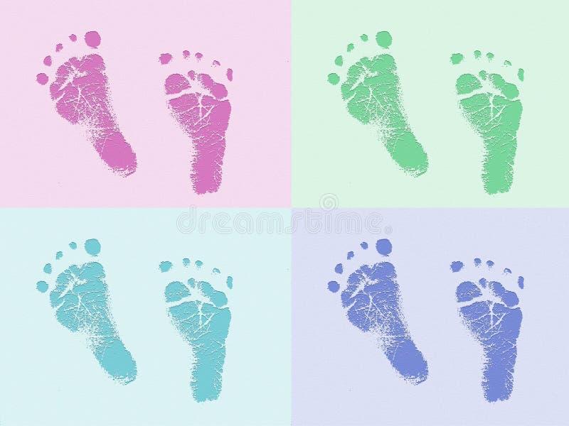 печати ноги младенца стоковые фото