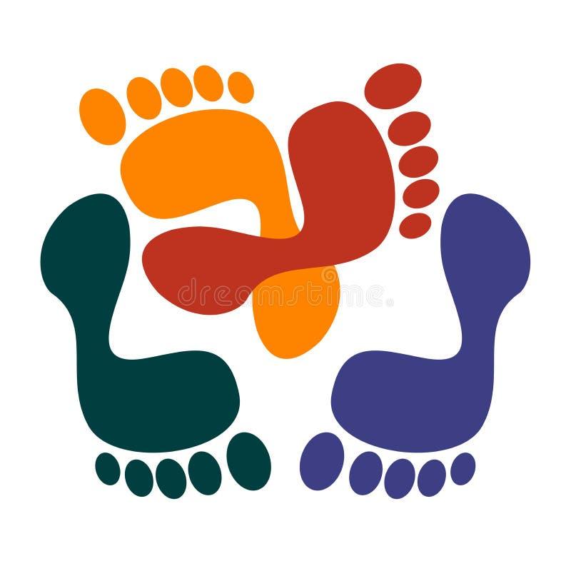 печати ноги иллюстрация вектора