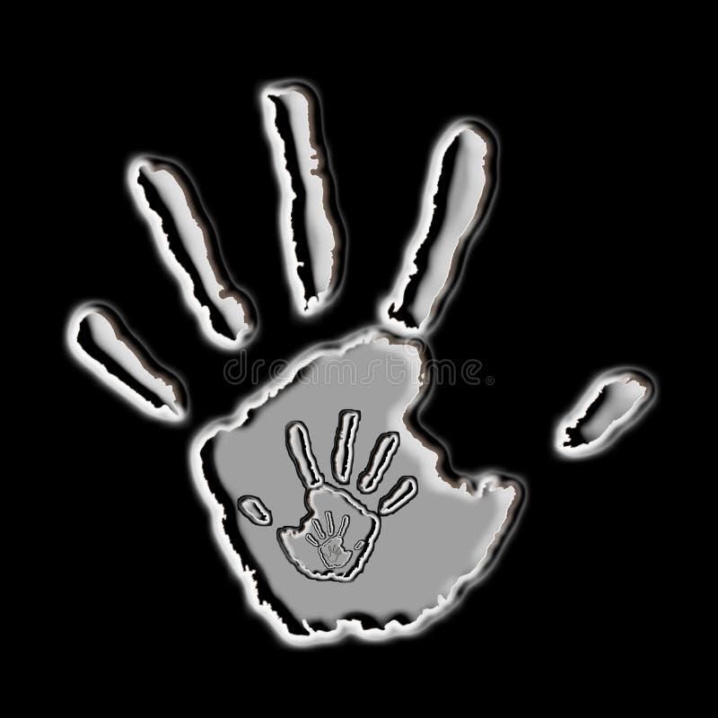 Печати руки: метафора материнства стоковая фотография