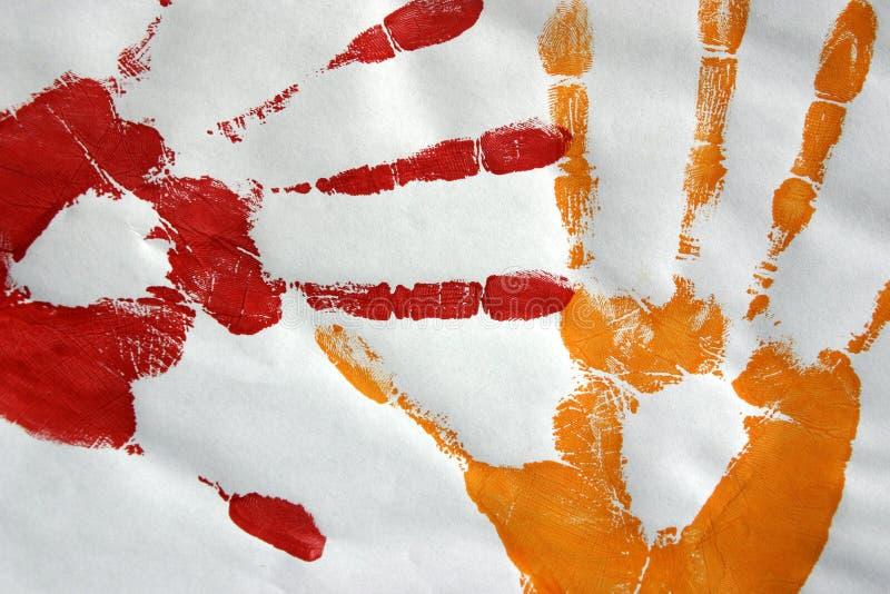 печати руки цвета иллюстрация вектора