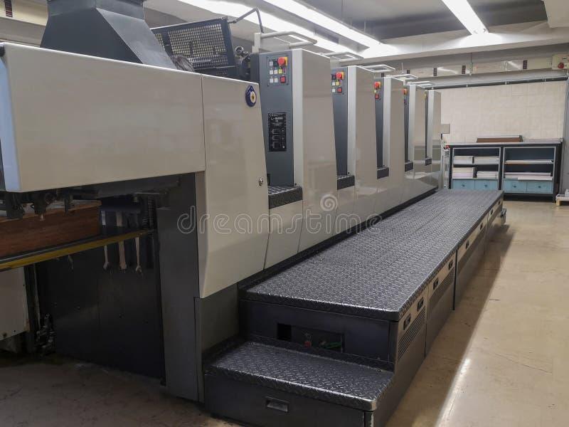 Печатная машина 4 цветов стоковая фотография