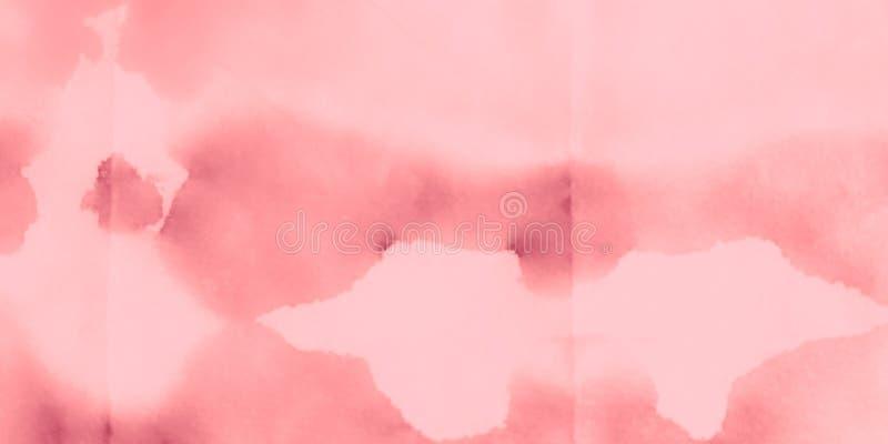 Печать акварели Розовая грязная предпосылка Голубая связь стоковая фотография rf