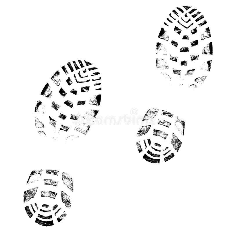печать ботинка иллюстрация вектора
