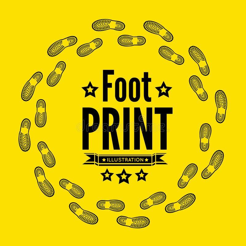 Печать ботинка иллюстрация штока