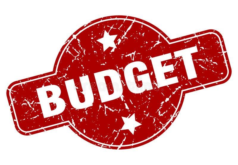 печать бюджета иллюстрация вектора