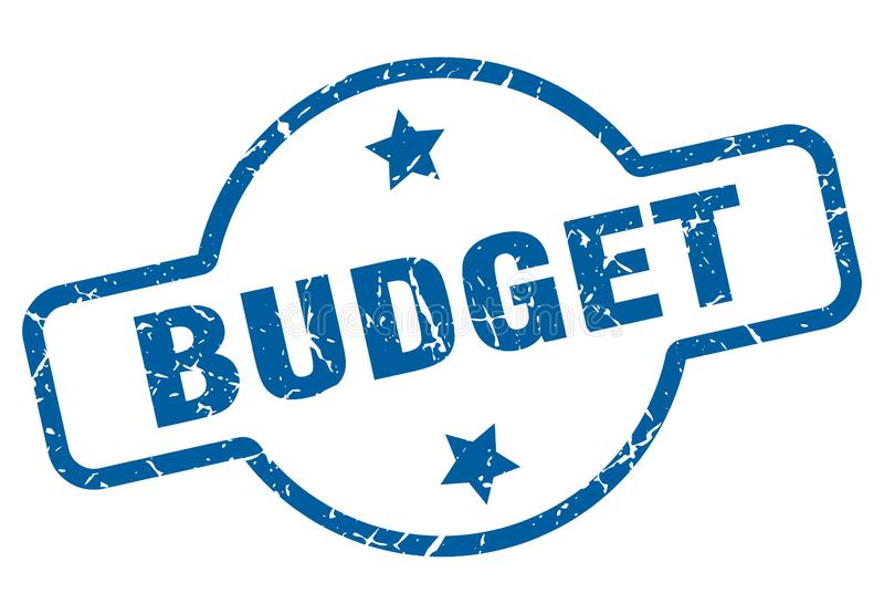 печать бюджета иллюстрация штока