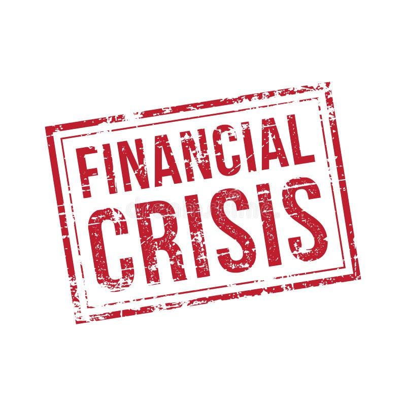 Печать вектора финансового кризиса стоковое изображение