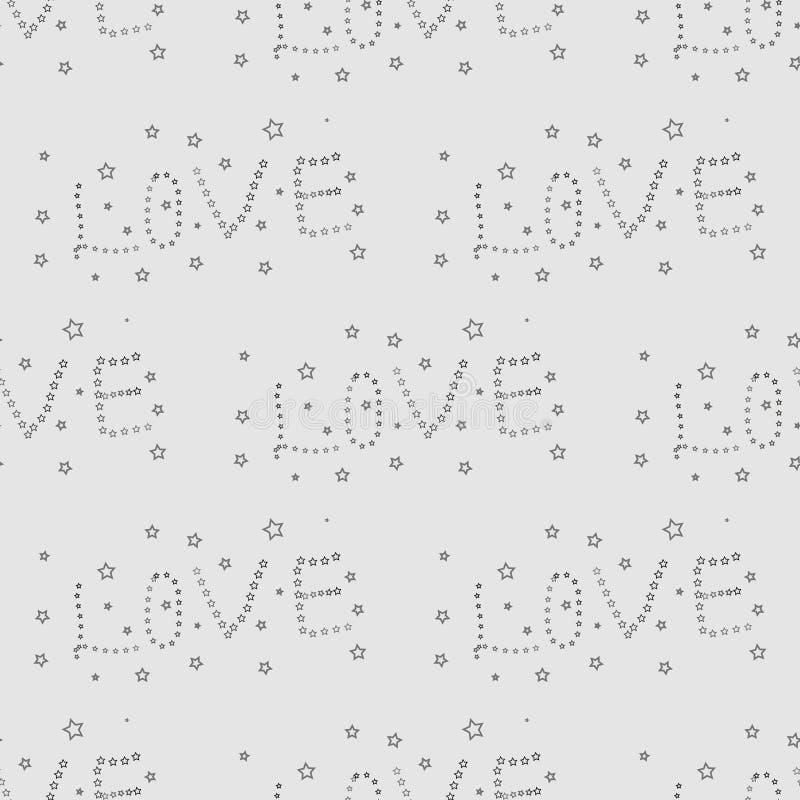 Печать влюбленности слова, картина, для ткани, открытка, знамя, предпосылка, обои звезда безшовная с словом eps 10 влюбленности иллюстрация штока