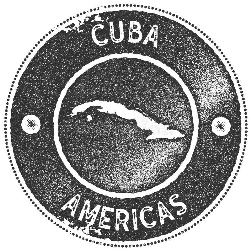 Печать карты Кубы винтажная бесплатная иллюстрация