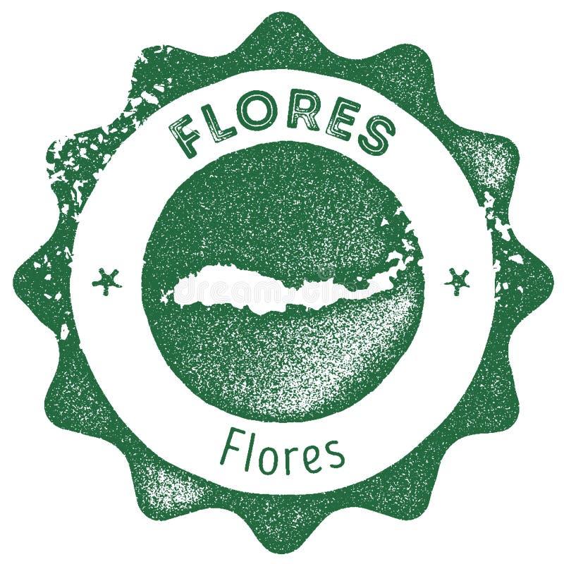 Печать карты Flores винтажная бесплатная иллюстрация