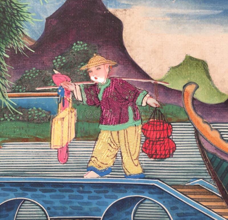 Печать китайца стоковое изображение