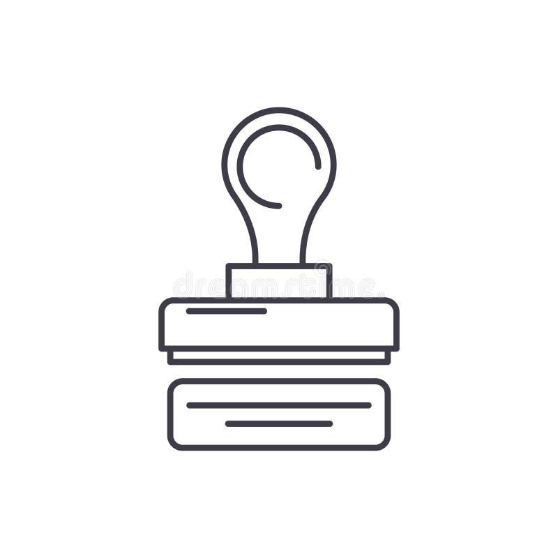 Печать линии концепции компании значка Печать иллюстрации вектора компании линейной, символ, знак иллюстрация вектора